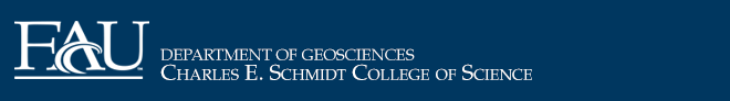 FAU Department of Geosciences